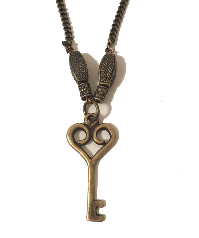 Antique Gold Key to My Heart