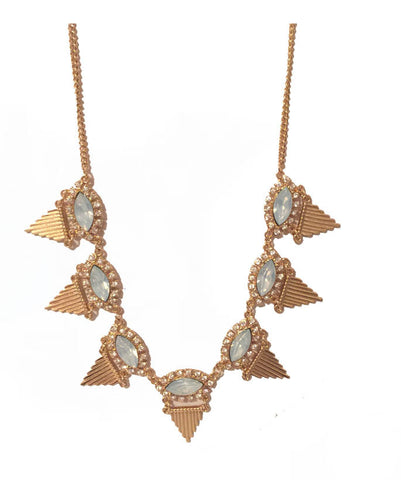 Baby Blue Jewel Aztec Necklace