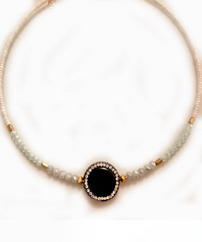 Beaded Dot Choker
