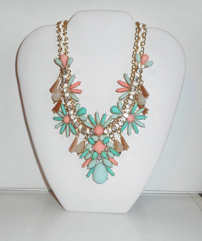 Statement Flower Jewel Necklace