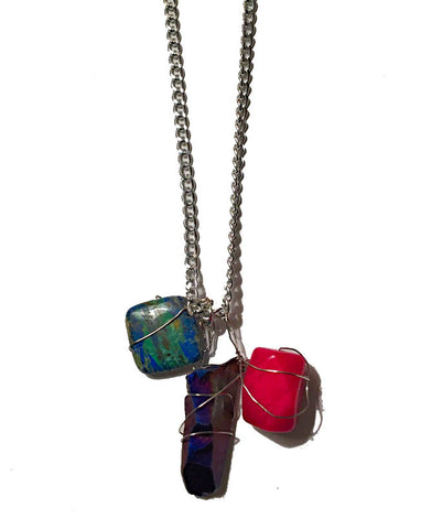Colorblock Rock Pendant