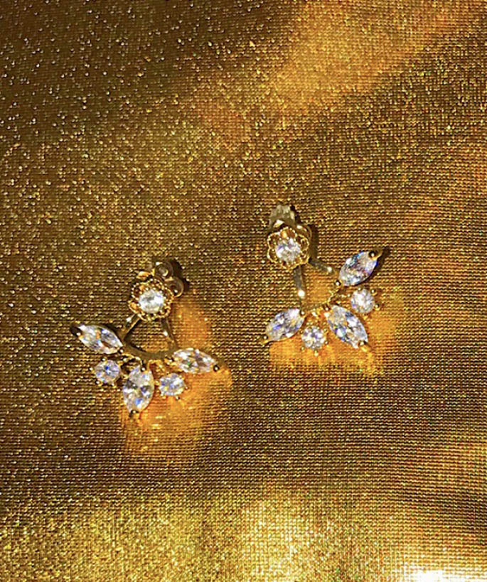 Flower Rhinestone Earring Jackets