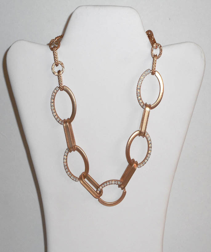 Gold Disc Iridescent Necklace Set