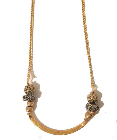 Gold Arc Necklace