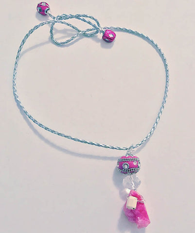 Pink Quartz Jada Necklace