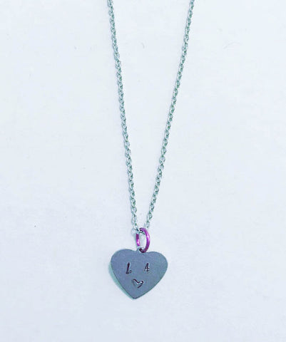 LA Inspired Heart Design Pendant