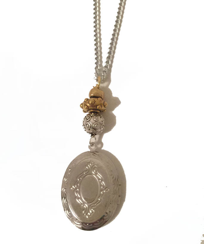 Mixed Metal Memory Pendant