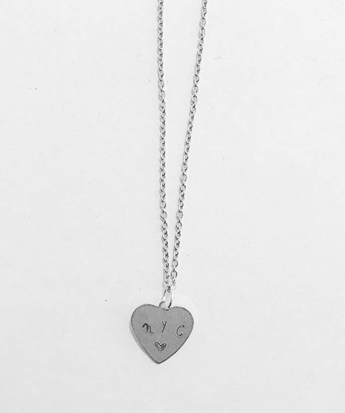 NYC Inspired Heart Design Pendant