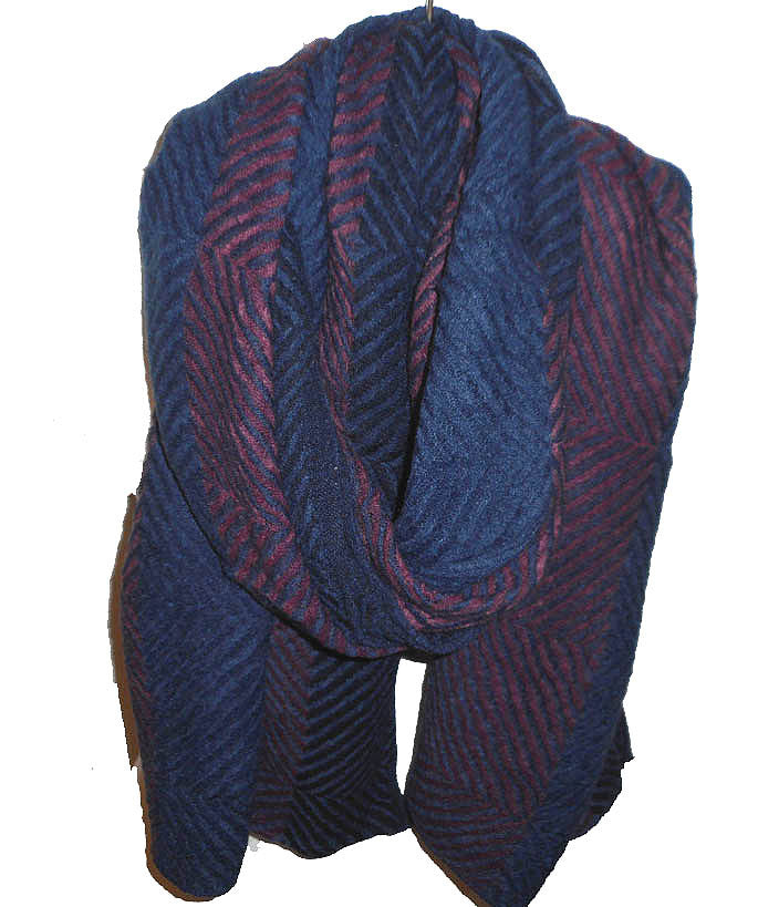 Navy and Fuchsia Scarf