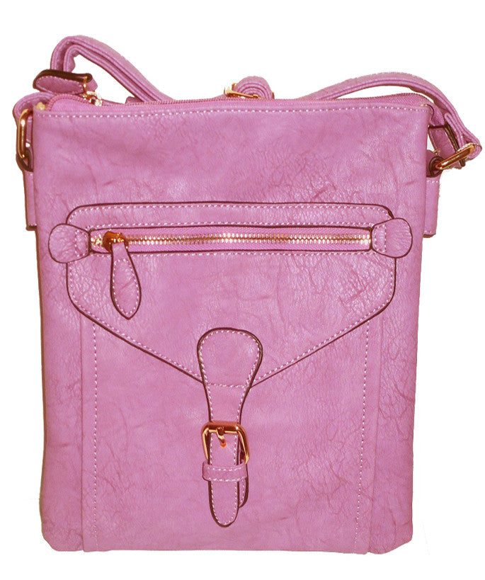 Buckle Accent Messenger Bag