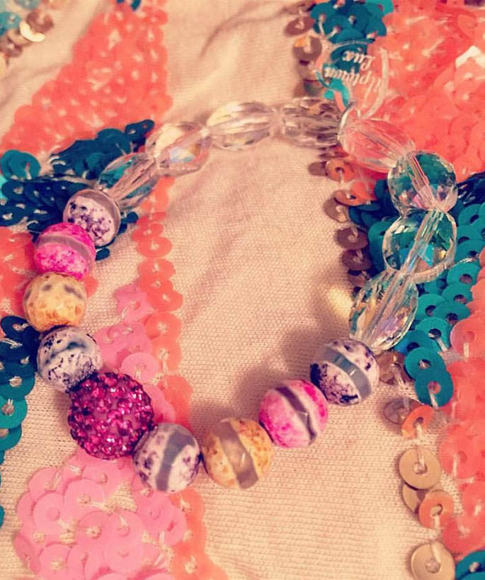 Pink Jewel Multicolor Bracelet