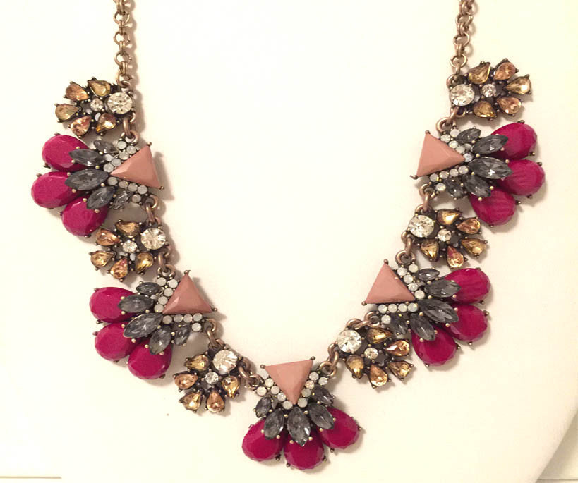 Pink and Gray Icon Necklace