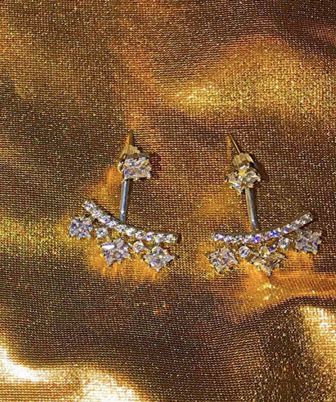 Square Rhinestone Earring Jackets