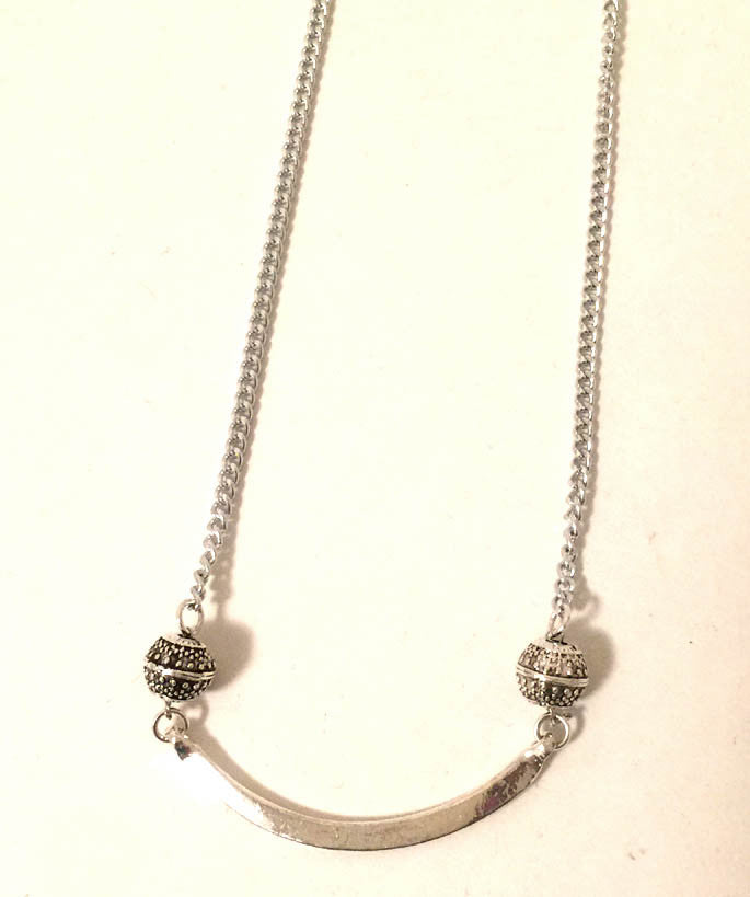 Silver Arc Necklace