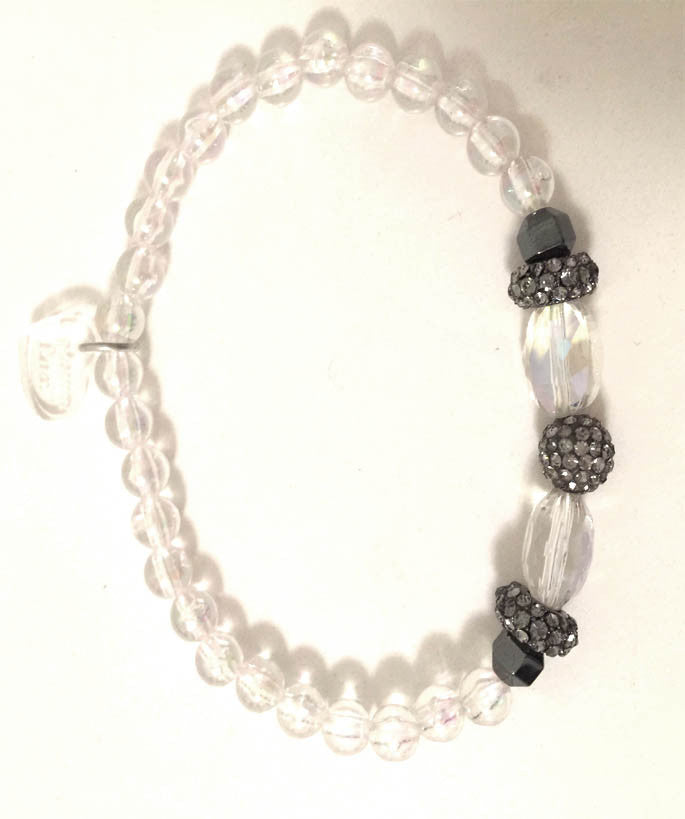 Smoke and Crystal Sparkle Bracelet