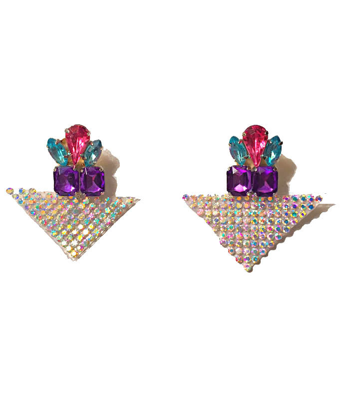 Triangle Gem Fantasy Earrings