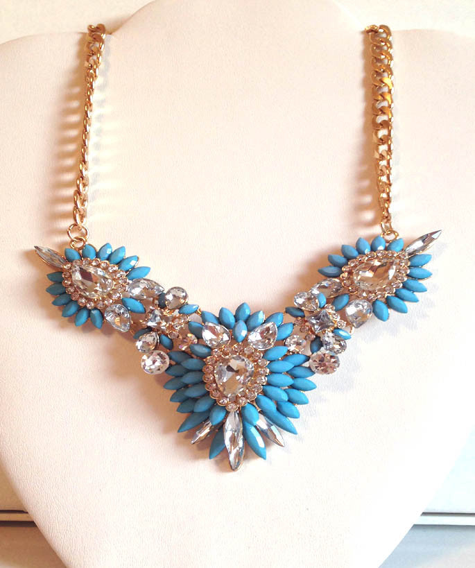 Turquoise Fantasy Statement Necklace