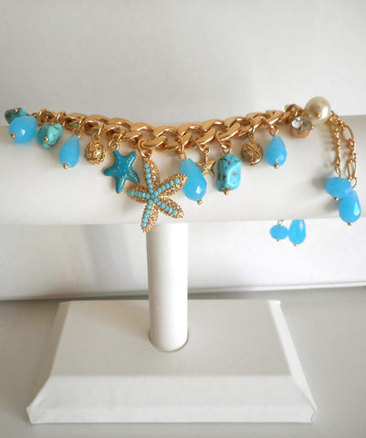 Turquoise Under the Sea Charm Bracelet