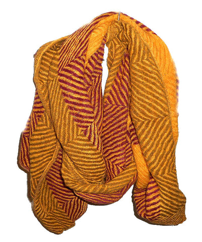 Mustard and Fuchsia Scarf