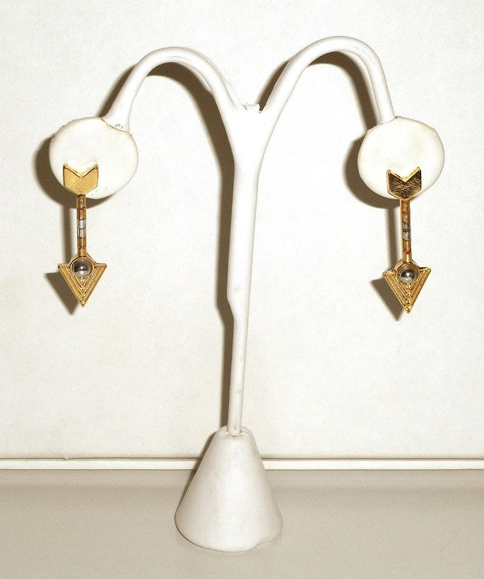 Gold Post Arrow Earrings