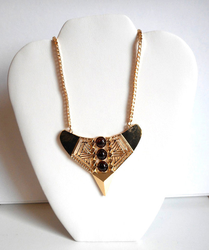 Aztec Statement Cutout Necklace Set