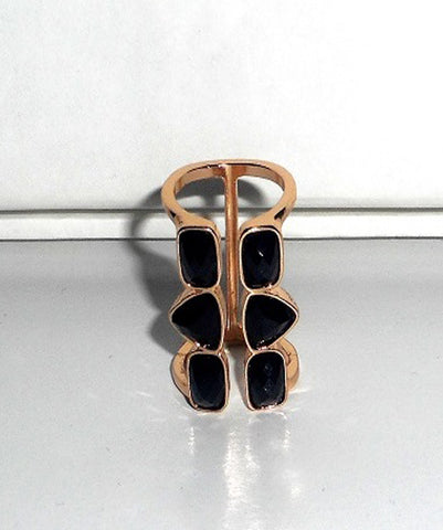 Black Jewel Knuckle Ring