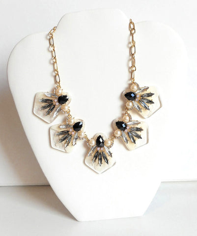 Black and Ivory Statement Necklace