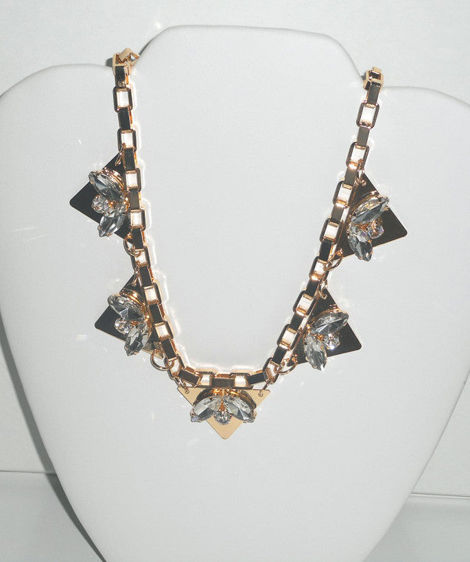 Gold Chain Triangle Necklace