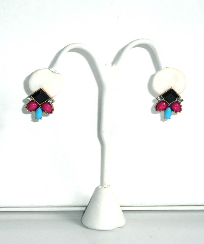 Multicolor Jewel Aztec Earrings