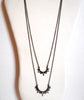 Black Spike Drop Necklace
