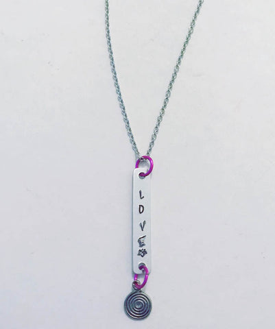 Love Inspired Silver and Hot Pink Necklace