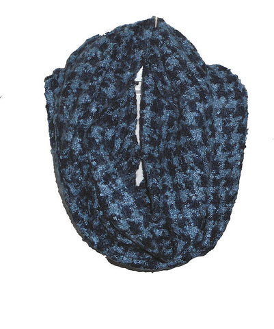 Navy Houndstooth Scarf