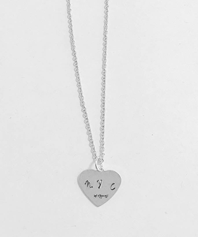 NYC Inspired Heart Necklace