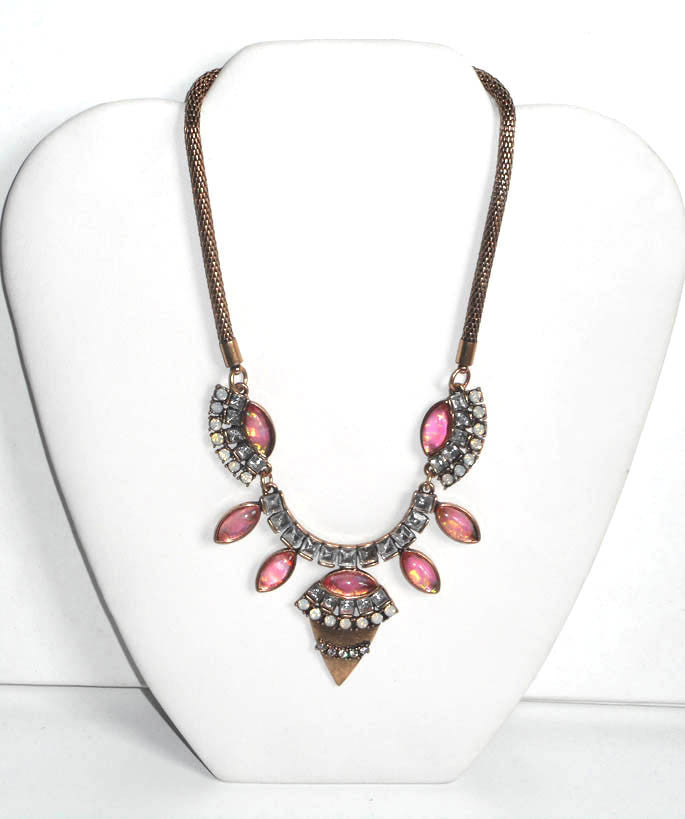 Pink Aztec Fantasy Necklace