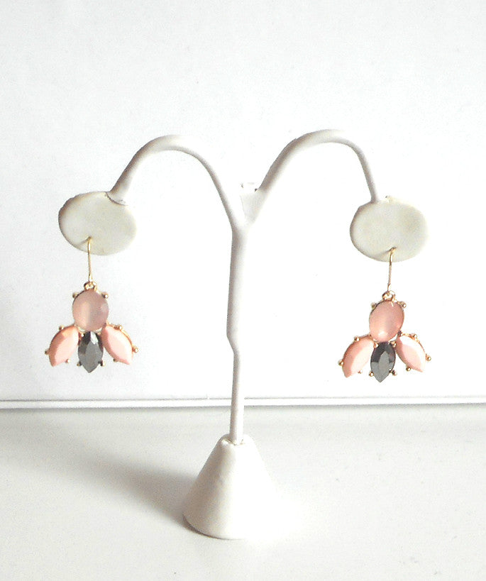 Pink and Gray Modern Earrings