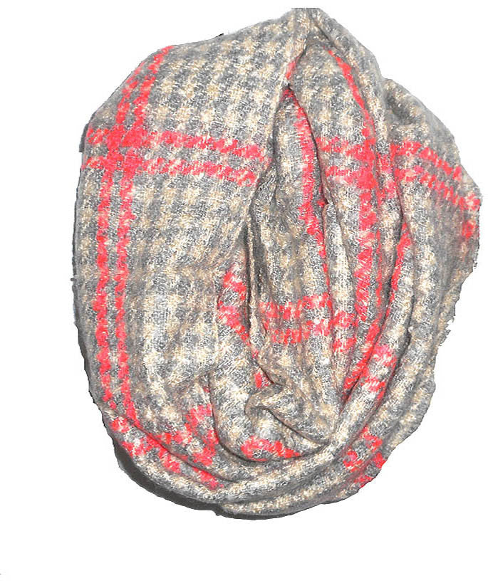 Pink Houndstooth Scarf