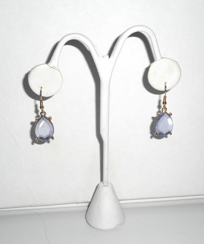 Purple Drop Earrings