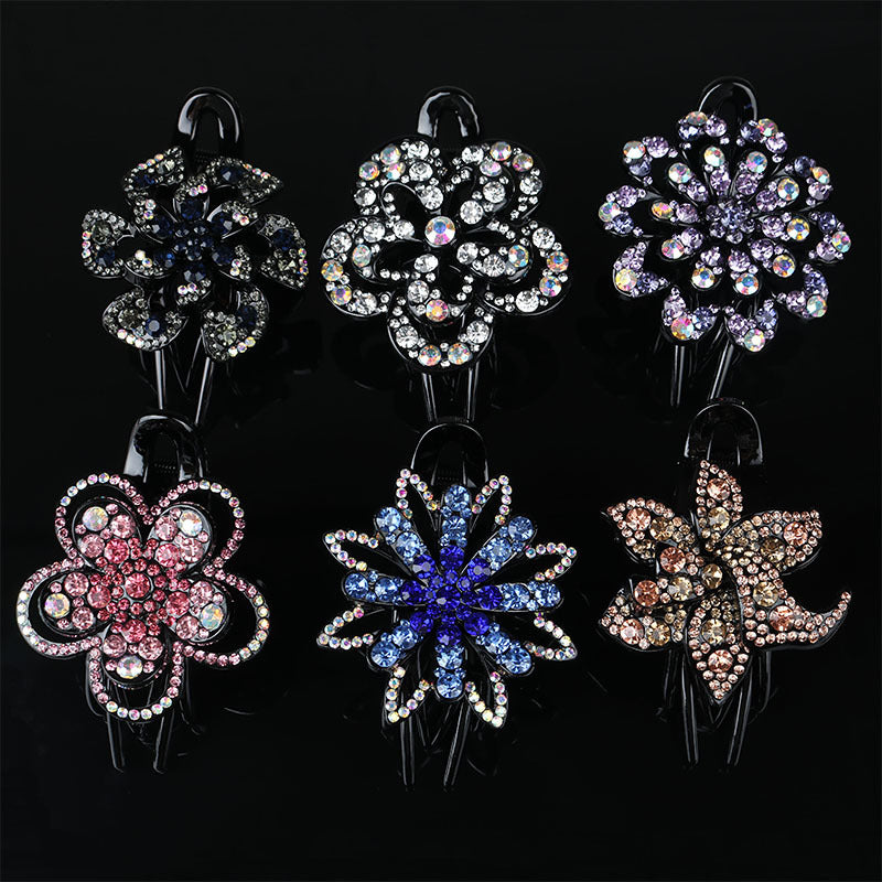 New Rhinestone Three-tooth Duckbill Clip Headgear
