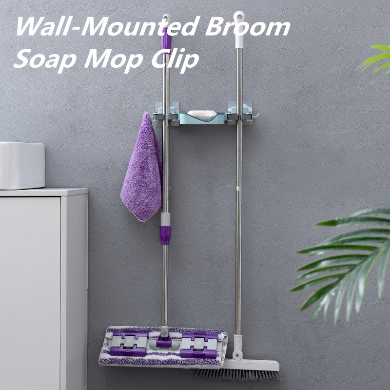 Wall-Mounted Broom Soap Mop Clip