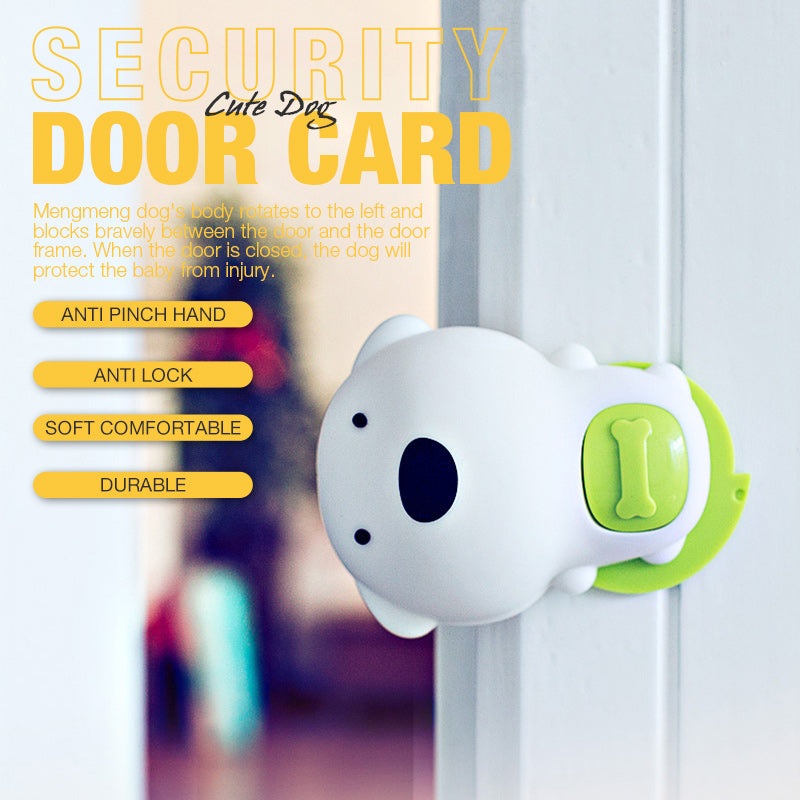 Cute Dog Security Door Card