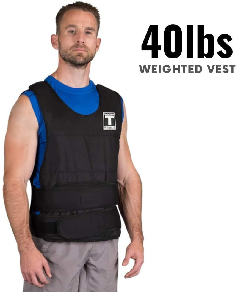 BST Premium 40lb Adjustable Weight Vest