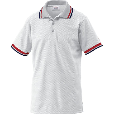 Umpire Shirt Adult, Columbia Blue with Scarlet, White, and Navy