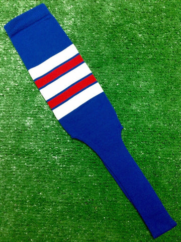 "Baseball Stirrups 8"" Royal Blue with Red White and Royal Stripes"
