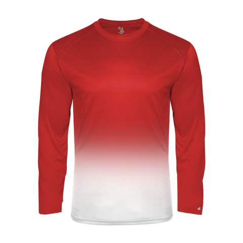 Badger Sport 4204 Adult Ombre Long Sleeve Tee (Various Colors)