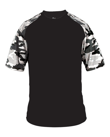Camo Baseball Tee Adult (Various Colors)
