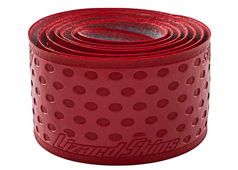 Lizard Skin Durasoft Polymer Bat Wrap - 1.1 mm Solid Color Red