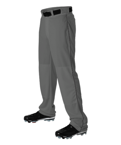Alleson Baseball Charcoal Pants with Braid (Various Colors),Youth and Adult sizes