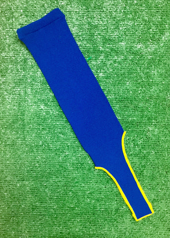 Baseball Stirrups Solid Color Royal Blue with Gold Trim