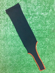 Baseball Stirrups Solid Color Black with Orange Trim