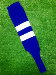 "Baseball Stirrups 6"" Royal Blue with Two White Thick Stripes"